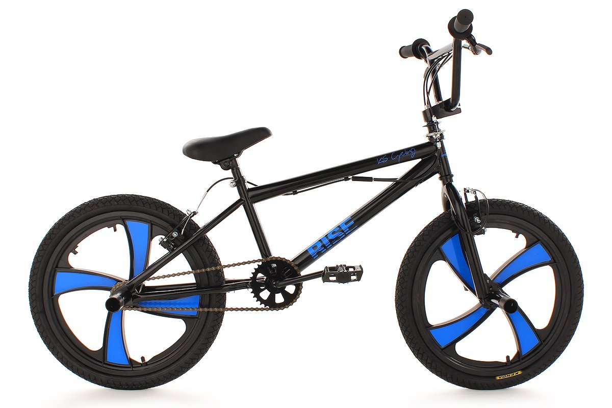 "BMX Bike Freestyle 20"" Rise Black KS Cycling"