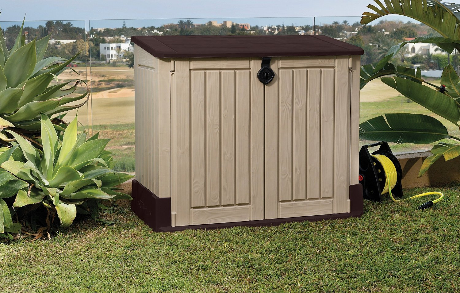 Keter Store-It-Out Midi Resin Outdoor Garden Storage Shed - Beige/Brown